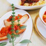 育ってきたハーブの使い方 お料理 水場の飾りに / 名古屋市  個人 栄 高岳 中区 東区 料理教室 アン料理教室