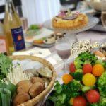 厄落とし鍋パーテイー&クリスマス ブロッコリーリースサラダの作り方